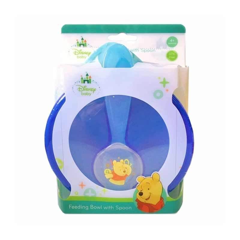 Disney Baby Feeding Bowl Set Perlengkapan Makan Anak with Spoon - Biru