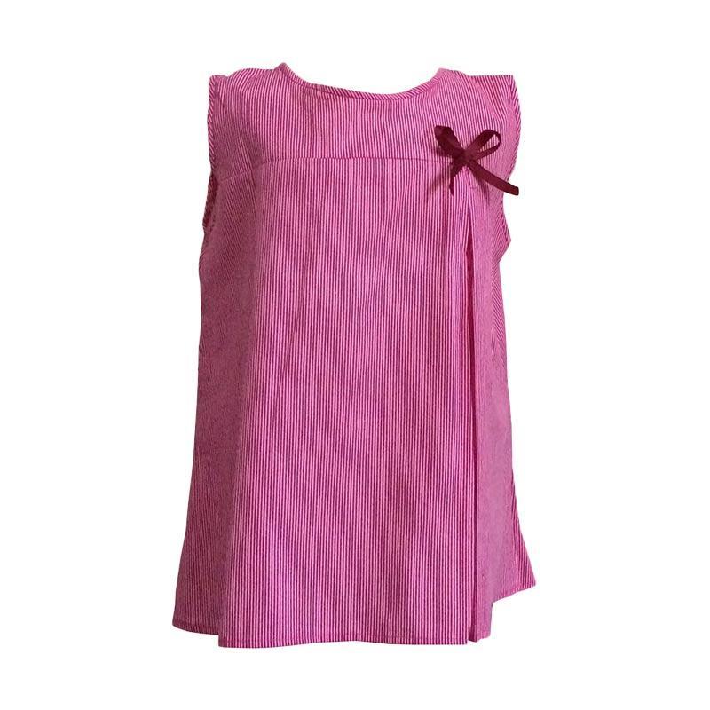 Kirana Kids Wear Nadia Line Dress Anak - Red