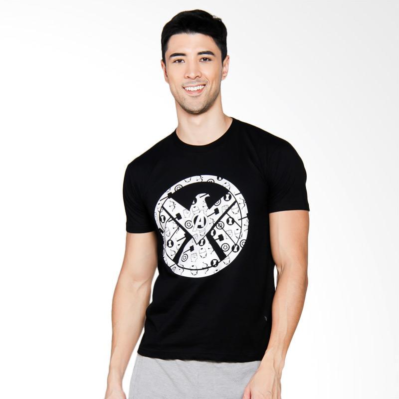 NOG The Avangers Agent Shield Silver Exclusive T-Shirt Unisex - Black