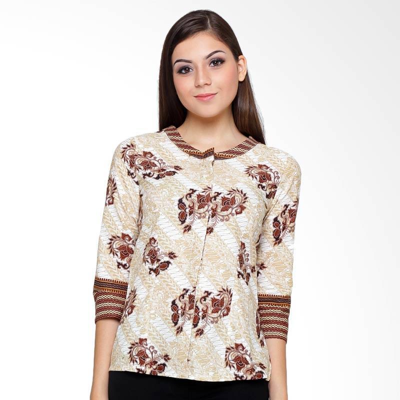 A&D Fashion MS 741B Blouse Batik Wanita - Brown