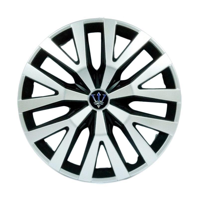 SIV Sport Wheel Cover Evolution Design WD2-1SL-14 Inch Dop Roda Mobil Black Silver