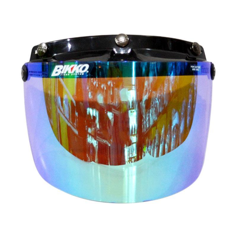 Kaca Helm BOGO Bikko Visor Flat - Crystal Green Purple