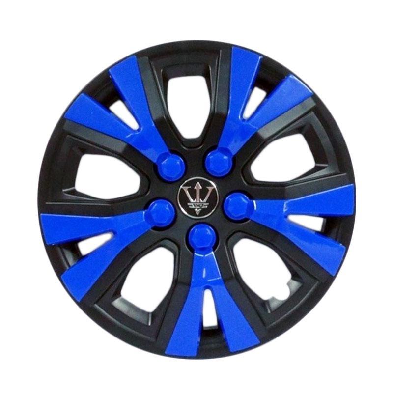 SIV WAY-1BL-13 Inch Sport Wheel Cover Evolution Design Set Dop Roda Mobil - Black Blue