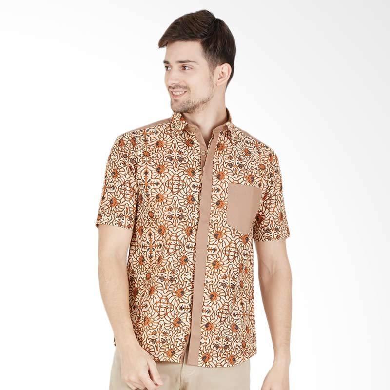 Enzy Batik Men Shirts Sogan Batik Pria - Beige b749a28633