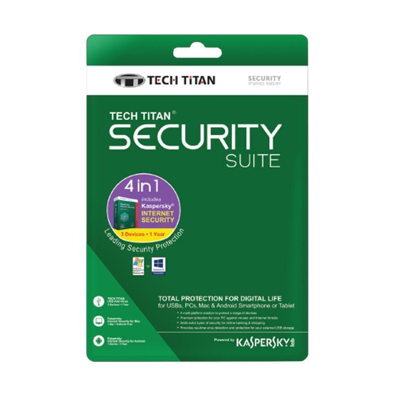 harga Kaspersky Tech Titan Internet Security Suite 2018 Software [3 User] Blibli.com