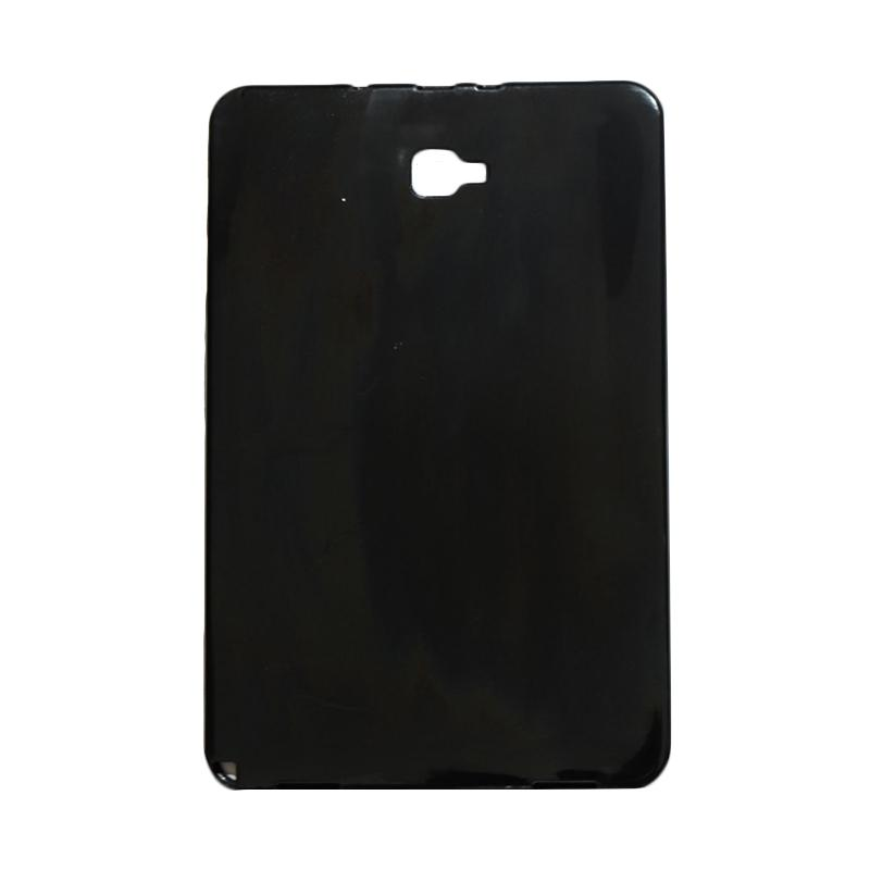 QCF Softcase Tablet Samsung P585 Silicone Casing for Samsung Tab A (2016) 10.1 Inch P580 / P585 - Hitam Glossy
