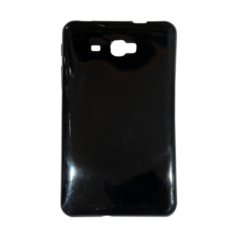 QCF Softcase Samsung T280 Silicone Casing for Samsung Galaxy Tab A (2016) 7.0 Inch T280 / T285 - Hitam Glossy