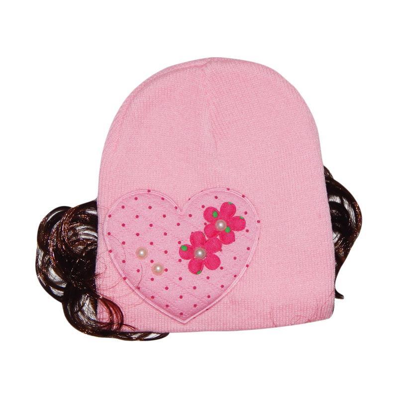 Wonderland Baobei Topi Rajut Rambut Anak - Pink