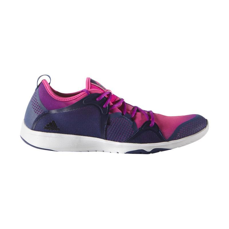 adidas Adipure 360.4 Sepatu Lari Wanita - Berry Comb Navy [Run2- AQ1944]