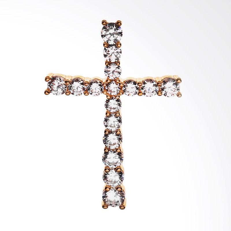 WhizLiz Liontin Emas Crossiana Pendant - Gold [18K]