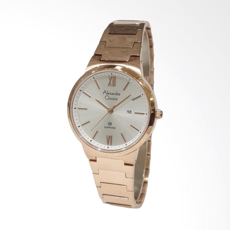 Alexandre Christie Sapphire Series 8544LDBRGSL Jam Tangan Wanita - Rose Gold