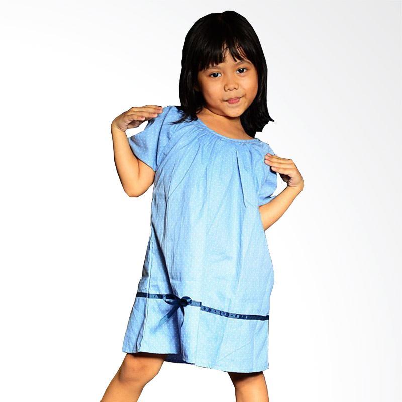 Kirana Kids Wear Lula Dress Anak - Polka Denim