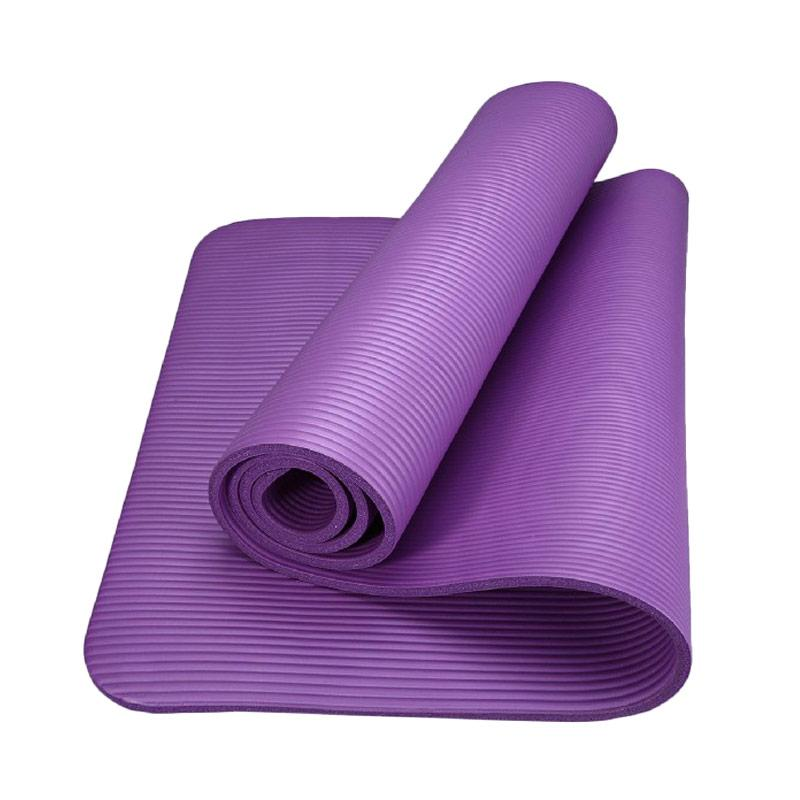 HAPPYFIT NBR Exercise Mat Matras Yoga with Strap - Purple [10 mm]