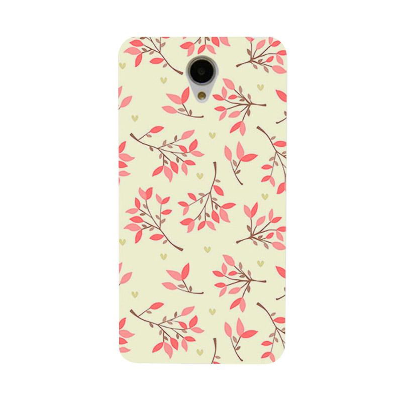 Premiumcaseid Cute Floral Seamless Shabby Cover Hardcase Casing for Xiaomi Redmi Note 2
