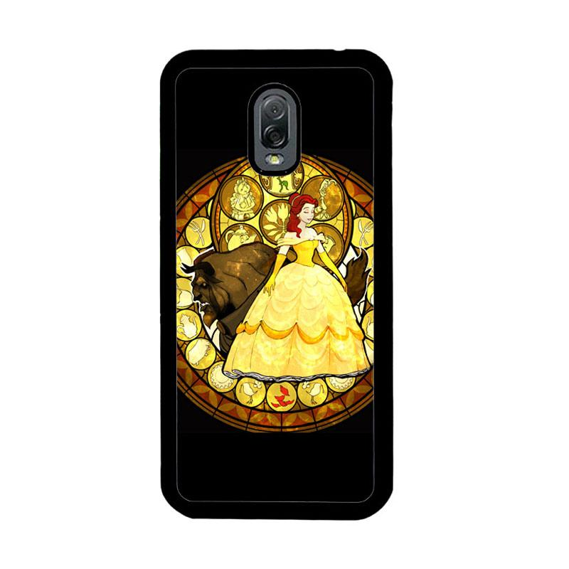 Flazzstore Beauty And The Beast Stained Glass Z1422 Custom Casing for Samsung Galaxy J7 Plus