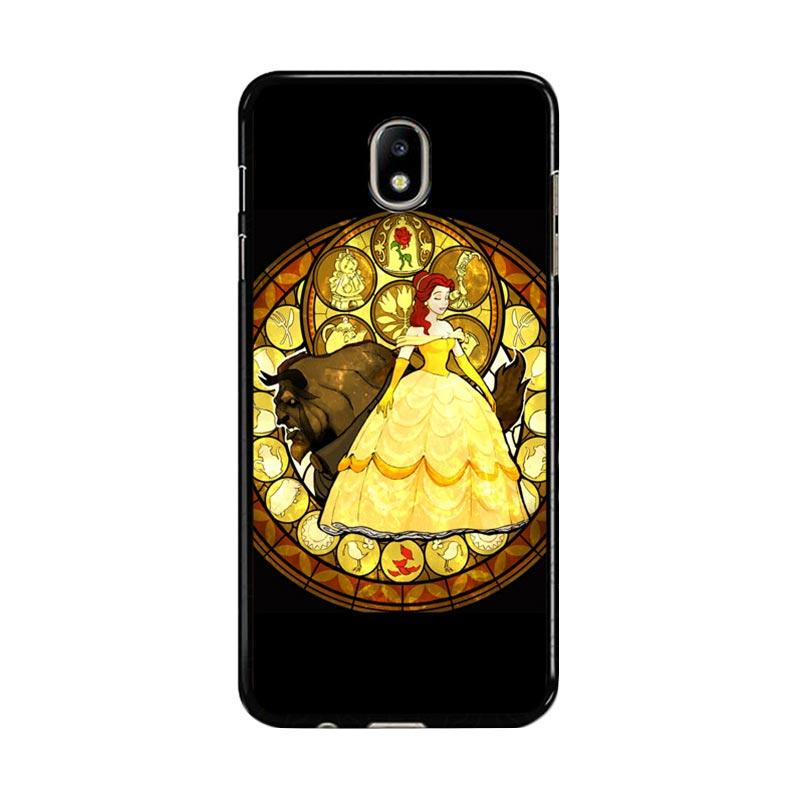 Flazzstore Beauty And The Beast Stained Glass Z1422 Custom Casing for Samsung Galaxy J7 Pro 2017