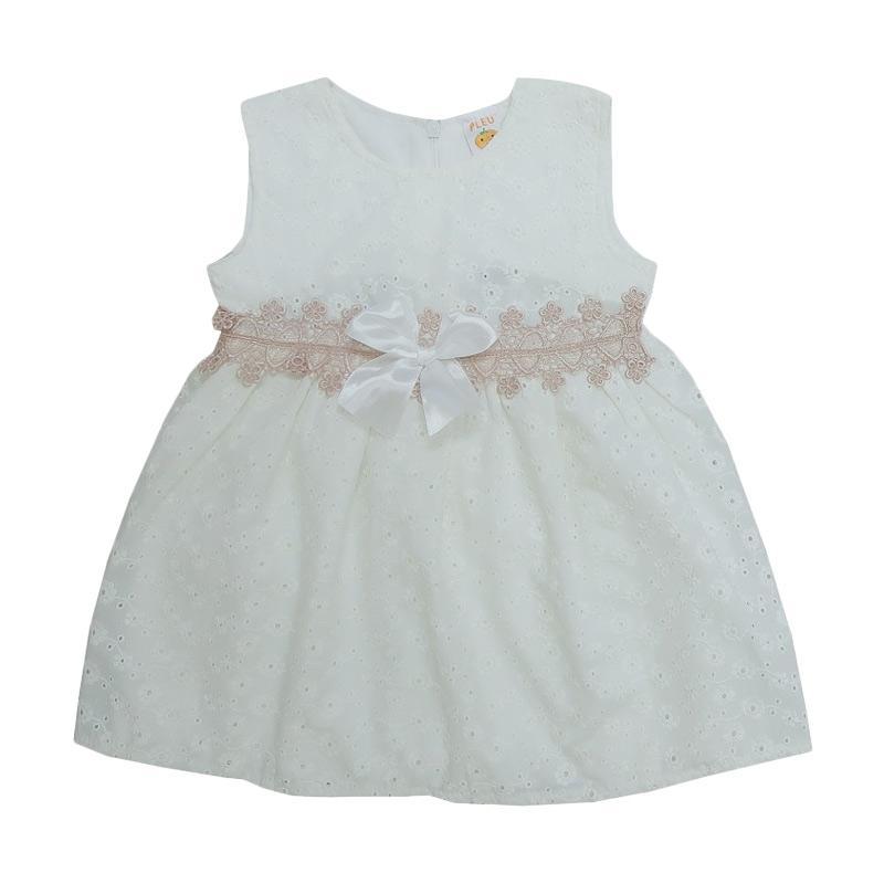 harga PLEU Brokat Renda Pinggang Dress Anak - Broken White Blibli.com