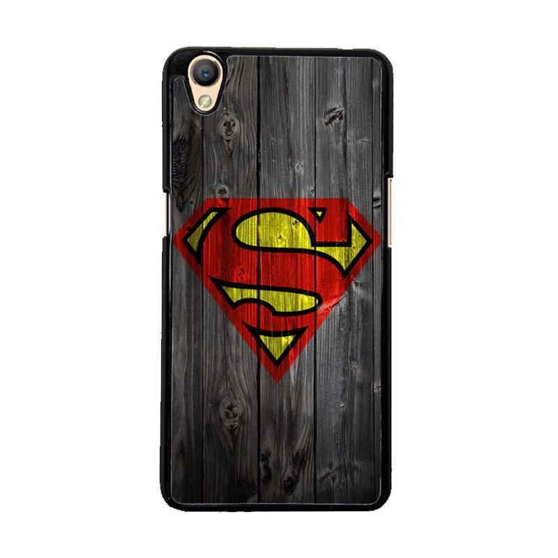Flazzstore Wood Superman Logo 1215 F0249 Custom Casing for Oppo Neo 9 or Oppo A37