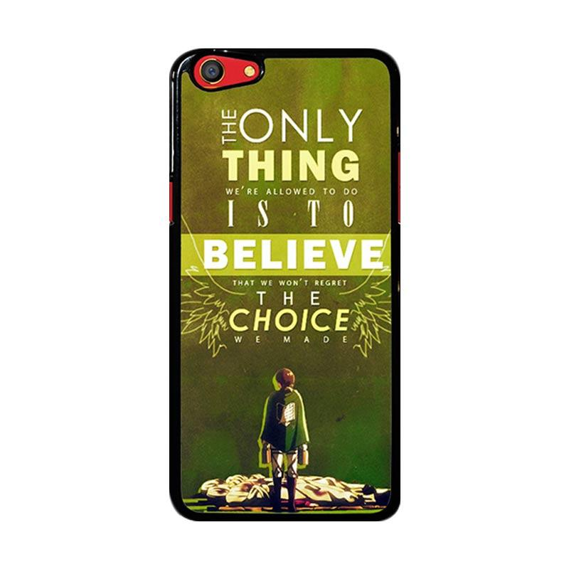 Flazzstore Attack On Titan Quotes Z1091 Custom Casing for Oppo F3