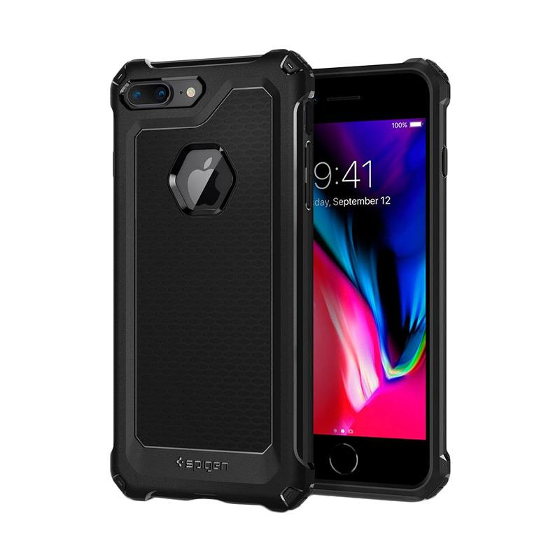 Spigen Rugged Armor Extra Softcase Casing for iPhone 8 Plus - Black
