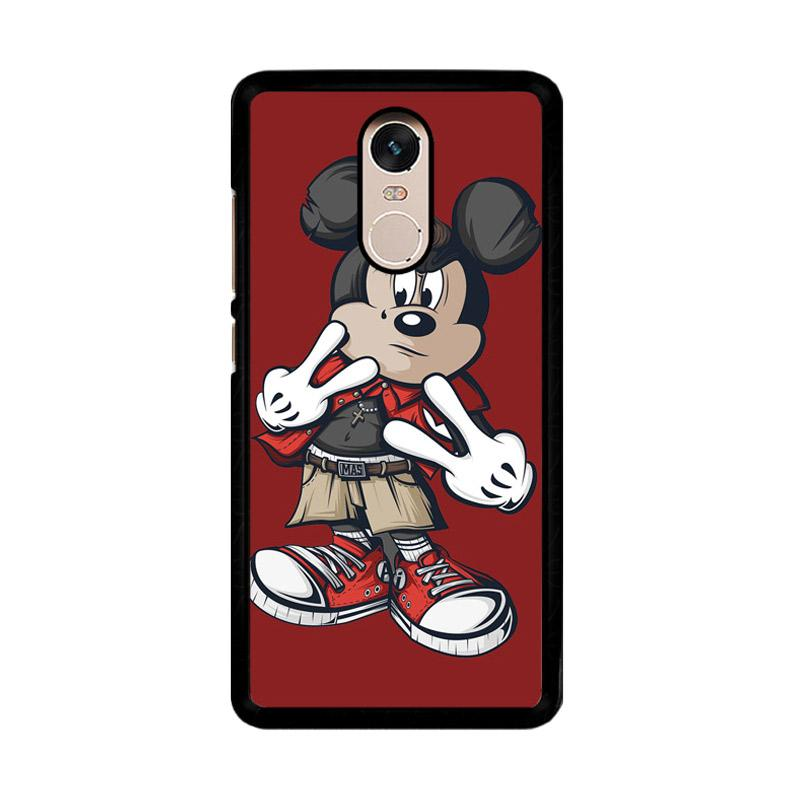 Flazzstore Mickey Mouse O0317 Custom Casing for Xiaomi Redmi Note 4 or Note 4X Snapdragon Mediatek