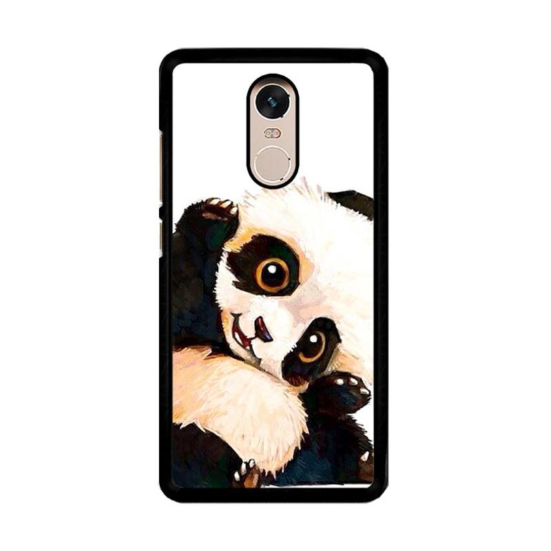 Flazzstore Panda Paint O0435 Custom Casing for Xiaomi Redmi Note 4 or Note 4X Snapdragon Mediatek