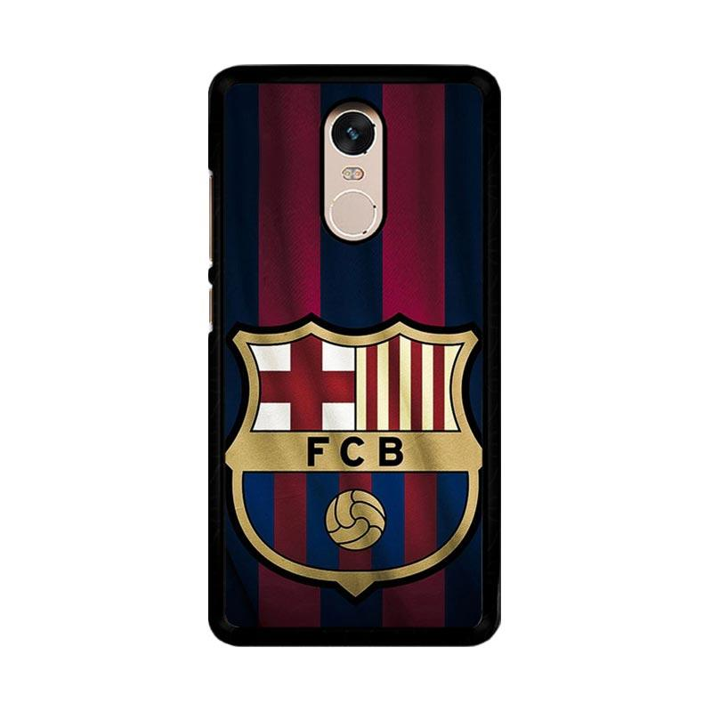 Flazzstore FC Barcelona Logo O0440 Custom Casing for Xiaomi Redmi Note 4 or Note 4X Snapdragon Mediatek