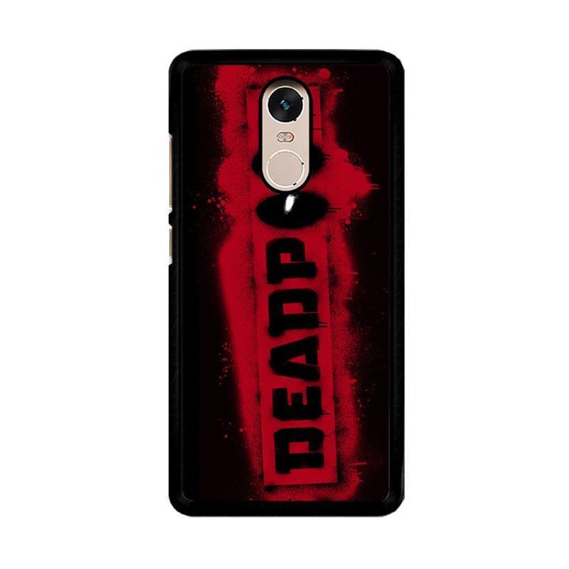 Flazzstore Deadpool Logo Brush Z1241 Custom Casing for Xiaomi Redmi Note 4 Note 4X Snapdragon Mediatek