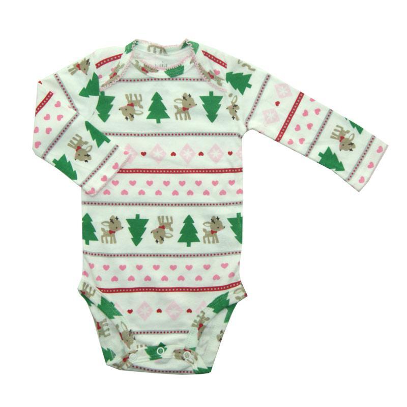 Bearhug Pohon Natal Bodysuit Bayi Perempuan - Putih [NB-6M]