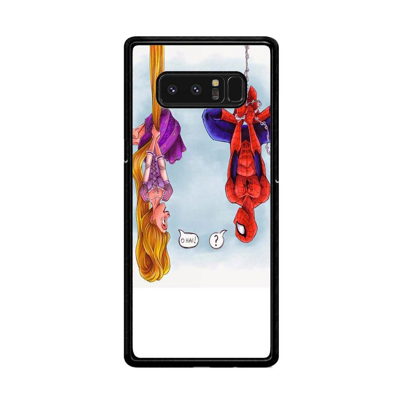 Flazzstore Disney Tangled And Spiderman F0399 Custom Casing for Samsung Galaxy Note8