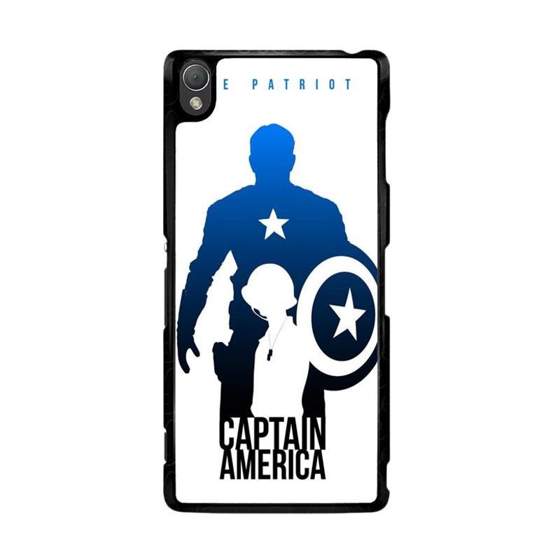Flazzstore Captain America Avengers Texture Z0716 Custom Casing for Sony Xperia Z3