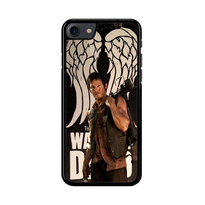 Flazzstore The Walking Dead Daryl Dixon Wings Z2791 Custom Casing for iPhone 7 or 8