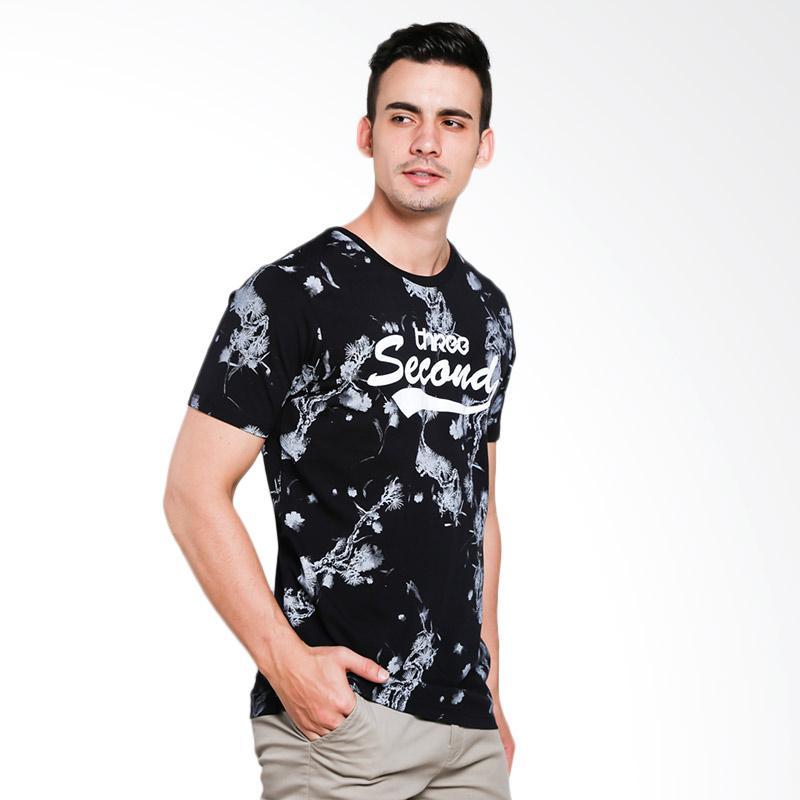 3SECOND 0701 Men Tshirt - Black