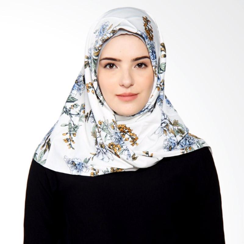 Rauza Rauza Fiori Midi Square Jilbab Segiempat - Putih