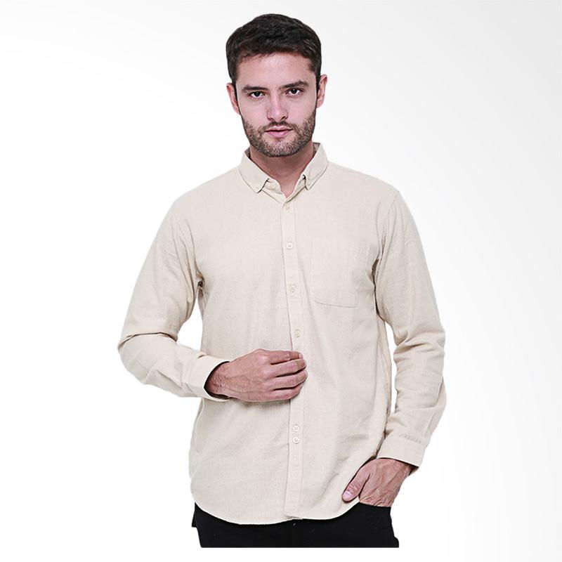 Tendencies Oyster Flannel Shirt Kemeja Panjang Pria - Cream