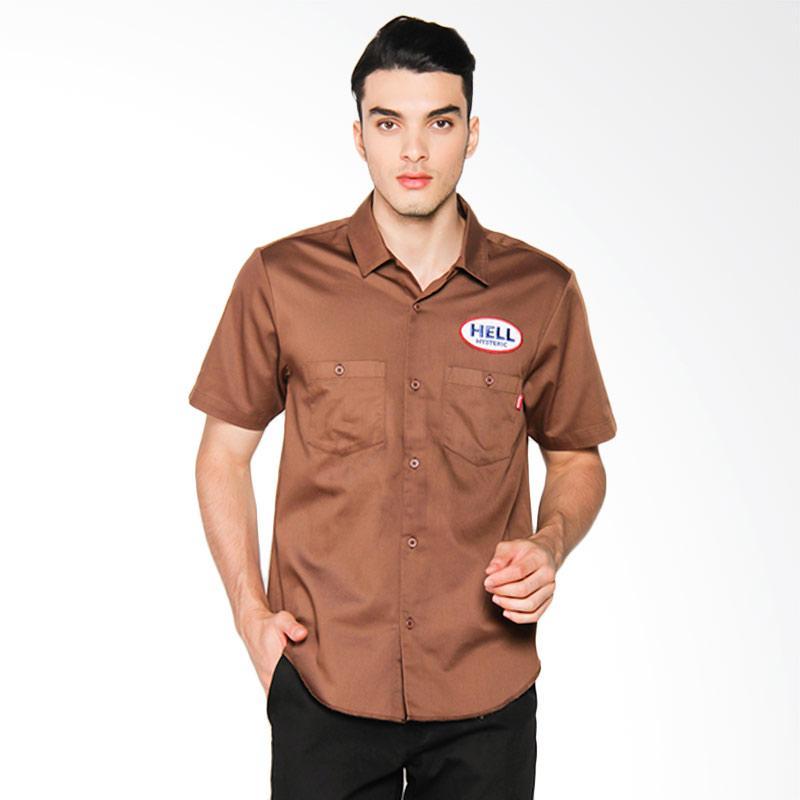 Supreme New York Hysteric Glamour S/S Work Shirt Kemeja Pria - Brown