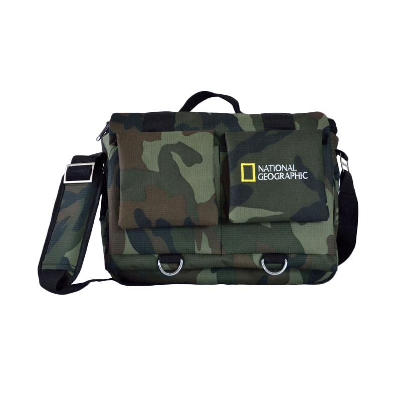 National Geographic Natgeo Selempang Tas Kamera for DSLR or Mirrorless Army Free Rain Cover Kode B