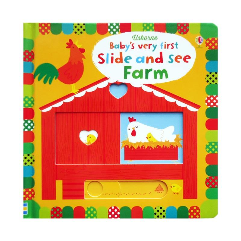 Genius Usborne Baby's Very First Slide and See FARM Buku Anak