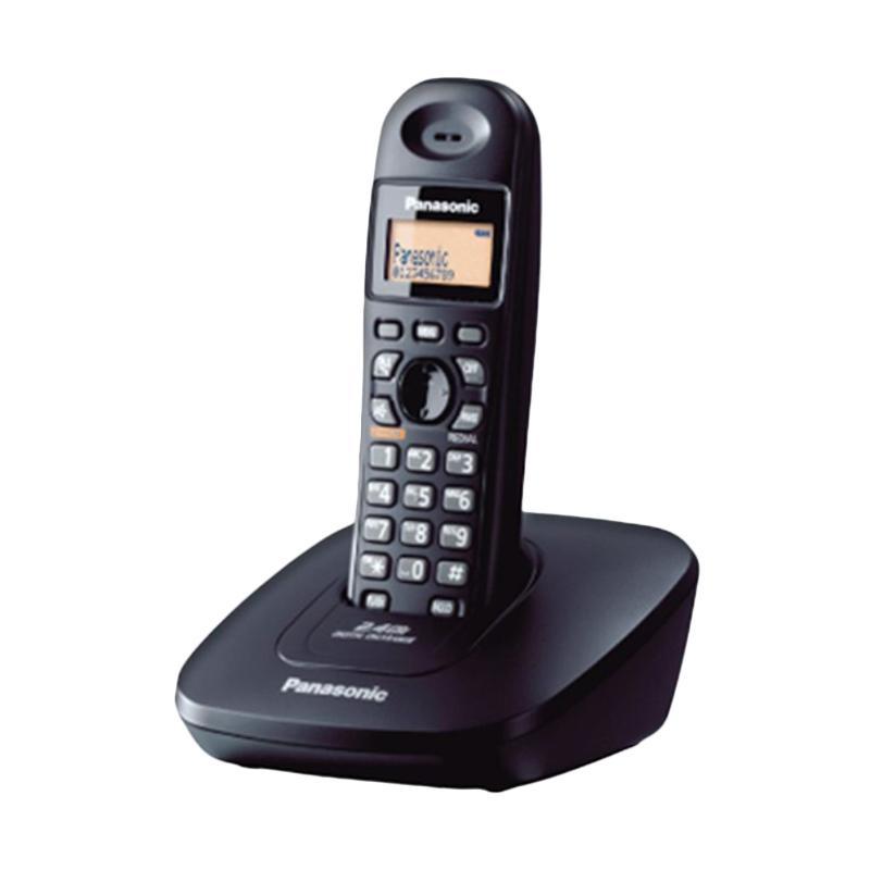 harga Telepon Wireless Panasonic KX-TG3611 - Telepon Wireless Rumah Kantor - Black Blibli.com
