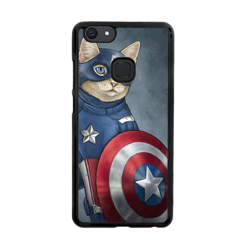 Flazzstore Captain America Cat Z0998 Custom Casing for Vivo V7