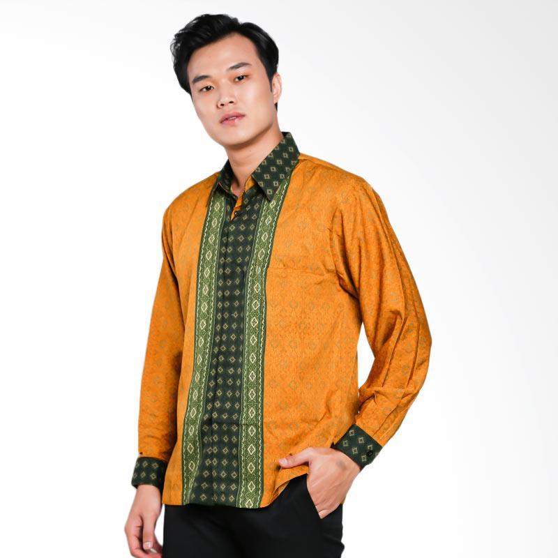 Blitique Abimayu Kencana Kemeja Batik Pria - Gold