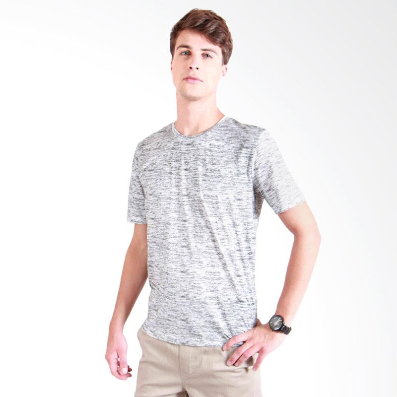 180 Degrees Abstract T-shirt Pria - Gray