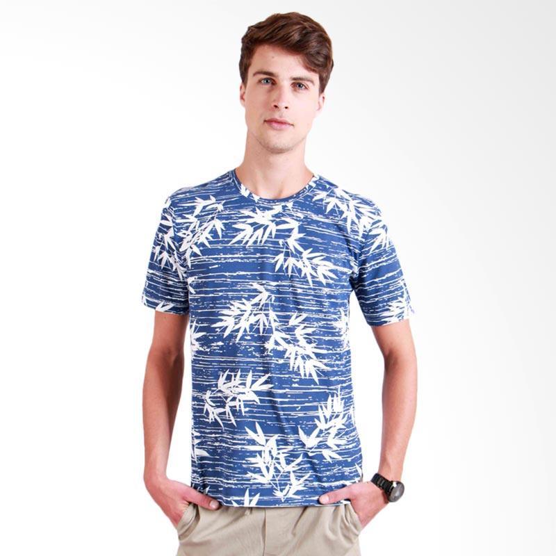 180 Degrees Bamboo T-Shirt Pria - Biru