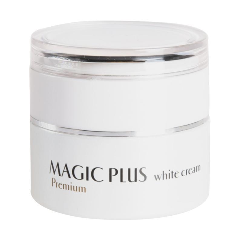 harga MAGIC PLUS White Premium Cream Pelembap Wajah 35 g dan Free 3g X 5 sachet Blibli.com