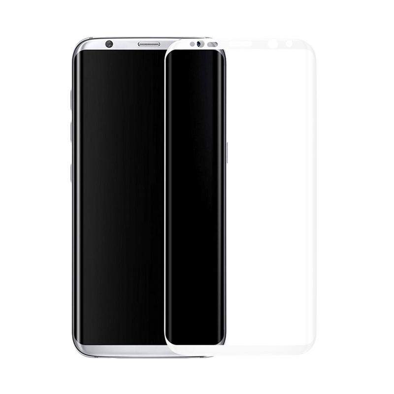 3T Tempered Glass Screen Protector for Samsung Galaxy S8 Plus - White [Full Cover]
