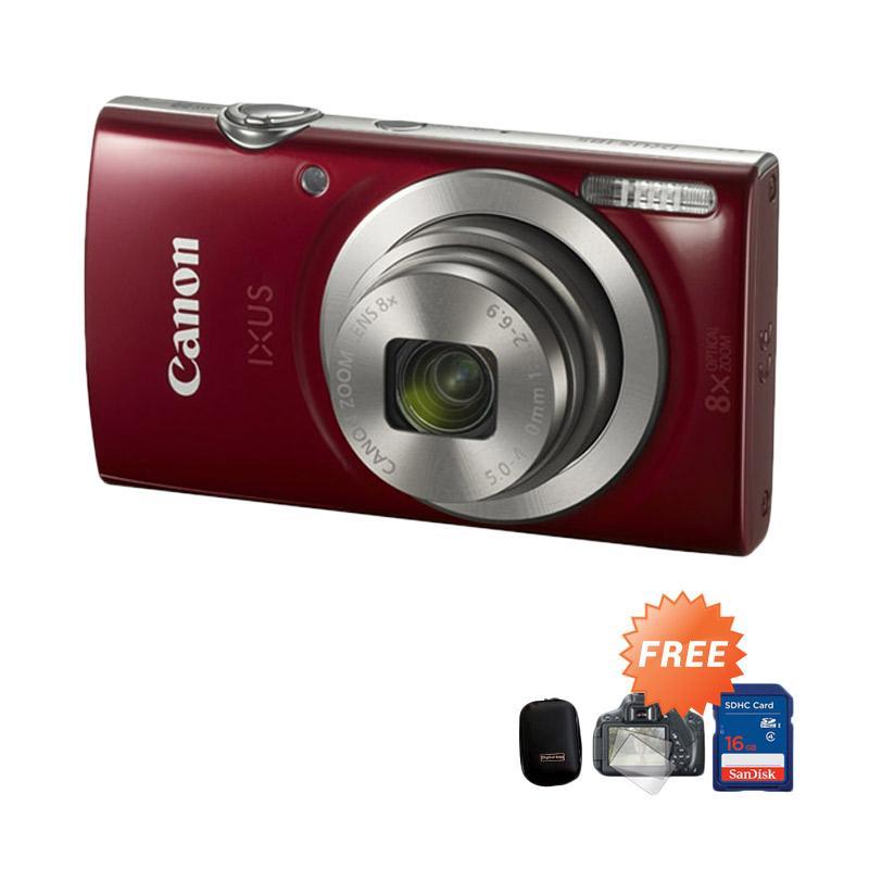 harga Canon Ixus 185 Kamera Pocket - Merah + Free Pouch + Lens Screen Protector + Kartu Memori Blibli.com