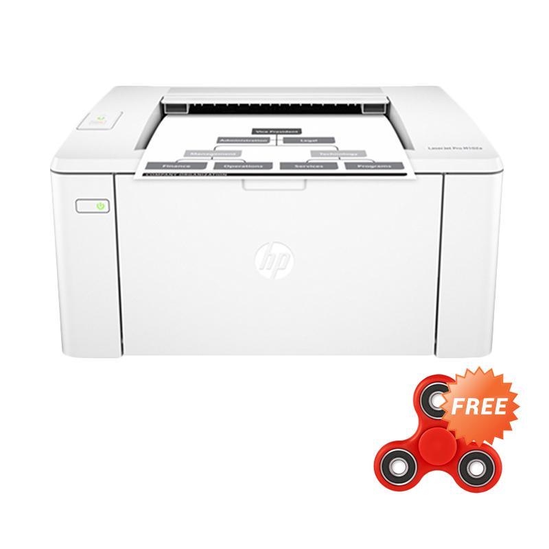 HP Laserjet Pro M102a Printer - Putih + Free Fidget Spinner