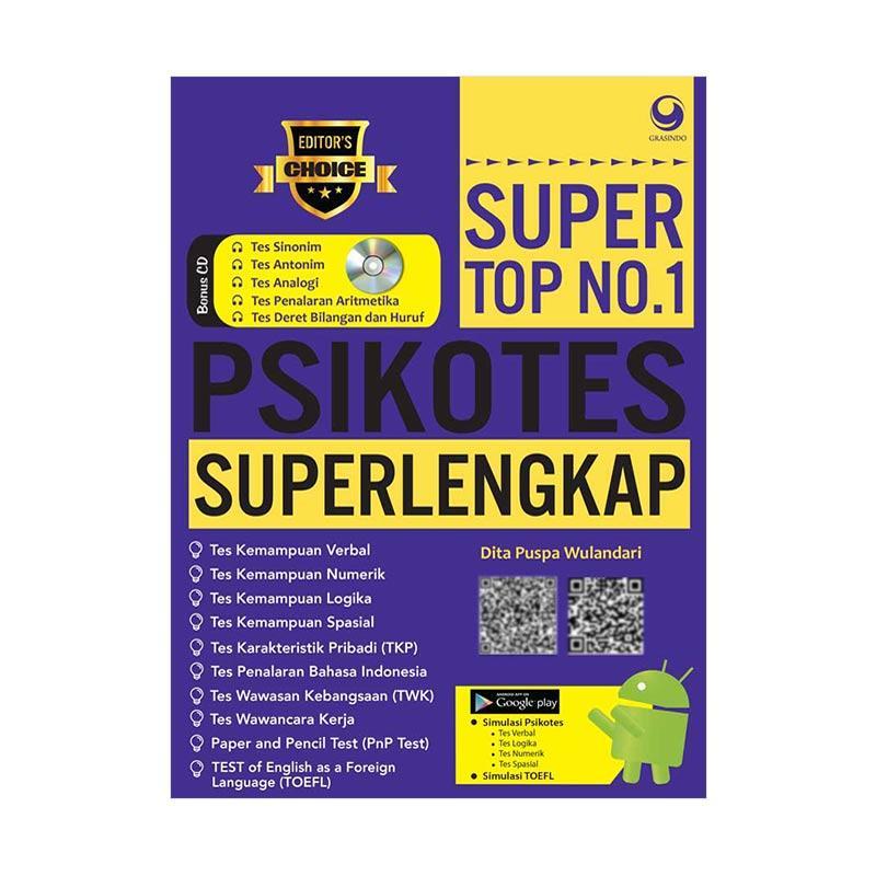 GRASINDO SUPER TOP NO. 1 PSIKOTES SUPERLENGKAP by Dita Puspa Wulandari Buku Edukasi