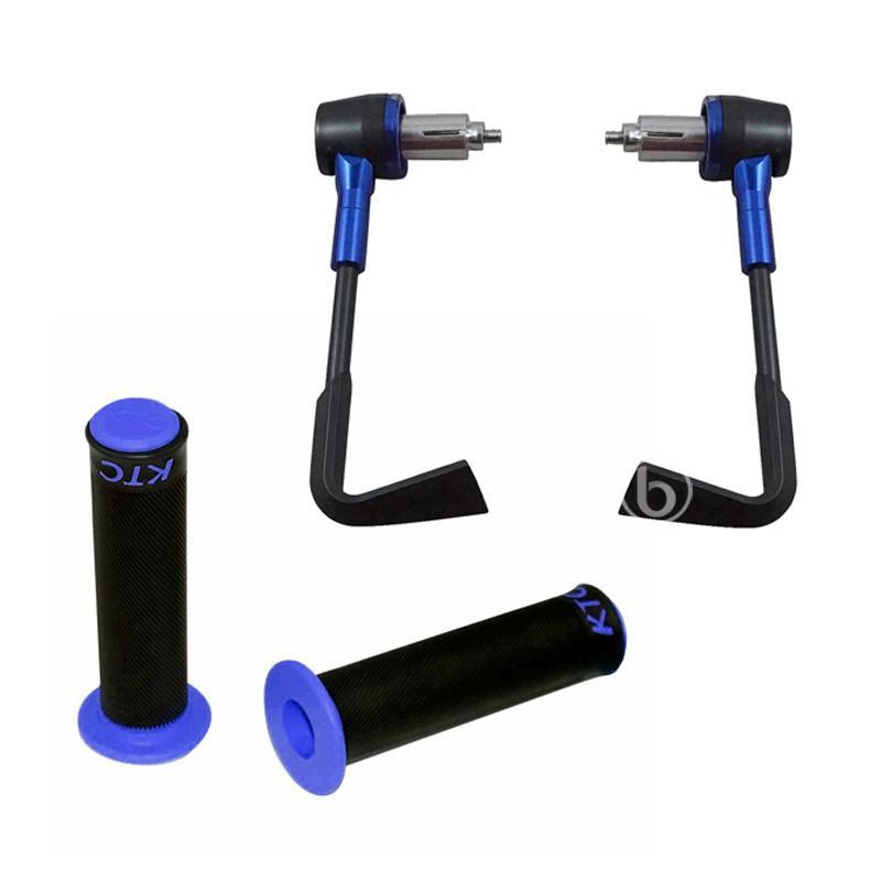 harga Paket Handguard Plastik with Handgrip KTC for Kawasaki Ninja 150RR - Biru Blibli.com