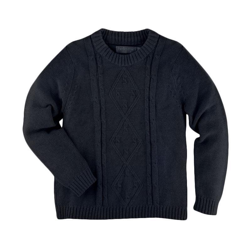 Hello Mici Knitwear Baby Mini Cable Baju Bayi - Navy